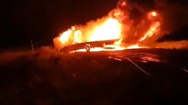 Antalya'da feci kaza: İki kişi araç içinde yanarak öldü