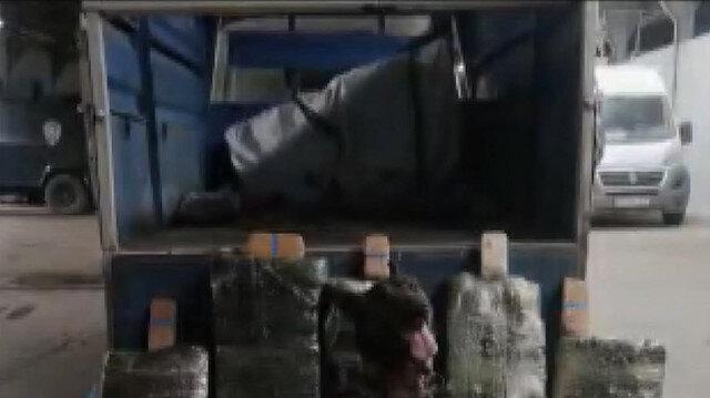 Van'da bir kamyonette 216 kilo 100 gram eroin bulundu