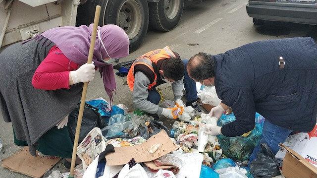Samsun'da çöpte pırlanta yüzükleri aradılar