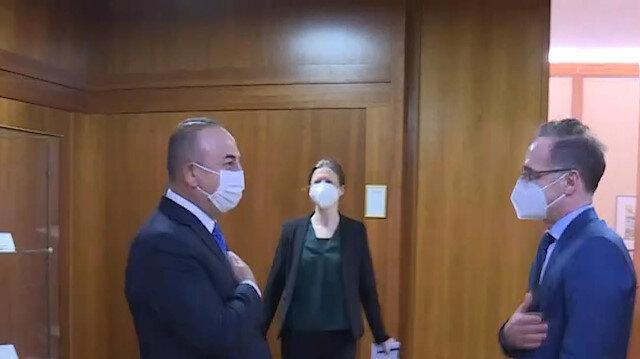 Dışişleri Bakanı Mevlüt Çavuşoğlu, Alman mevkidaşı Maas ile görüştü