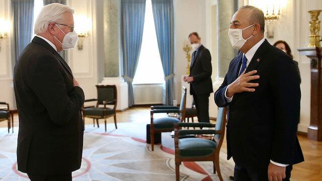 Dışişleri Bakanı Çavuşoğlu Almanya Cumhurbaşkanı Steinmeier'la görüştü