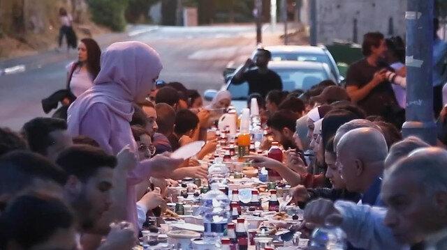 Kudüs'te Şeyh Cerrah mahallesi sakinlerine destek için toplu iftar düzenlendi