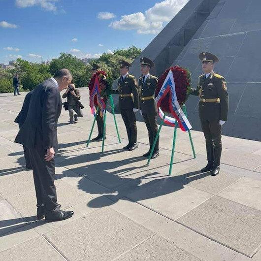 Lavrov'dan sözde soykırım anıtına ziyaret