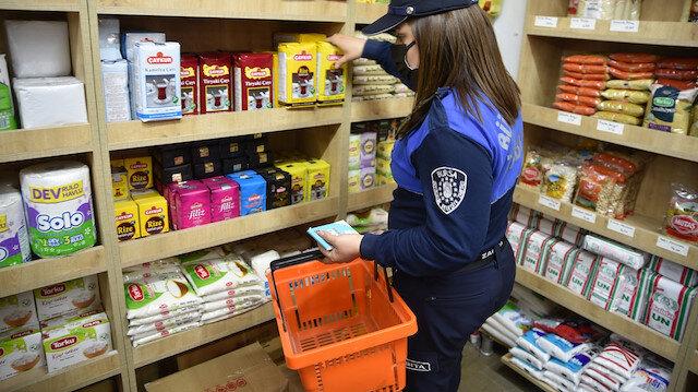 Bursa'da mutfak alışverişi zabıtadan