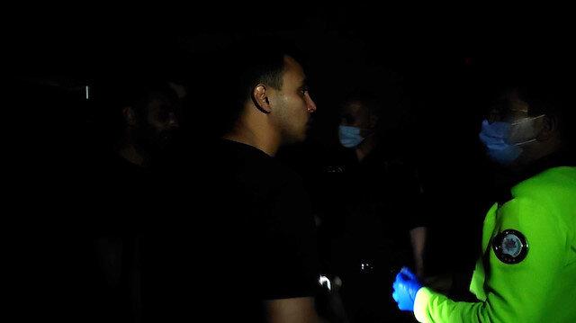 Polisten zorluk çıkaran yabancı boksöre cevap,