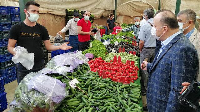 Maltepe'deki denetime katılan kaymakama seslenen pazarcı: Bizi dinlemiyorlar