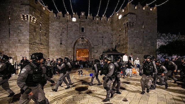 İşgalci İsrail güçleri Kudüs'te saldırılarına devam ediyor