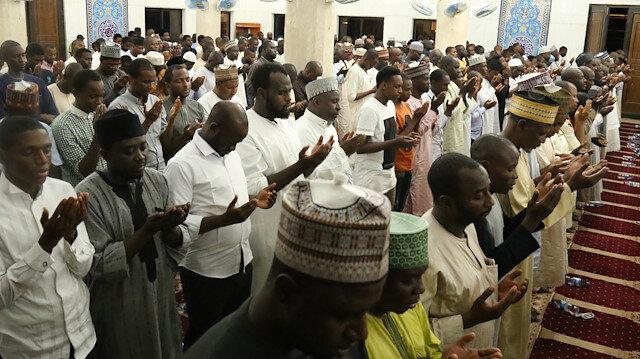 Nijeryalı Müslümanlar Kadir Gecesi'nde Filistinli kardeşlerini unutmadı