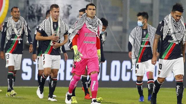Deportivo Palestino takımından Filistin'e puşili destek