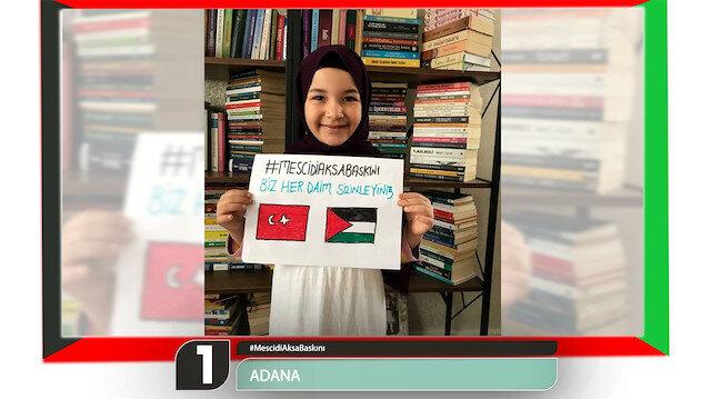 Türkiye'nin 81 ilinden Kudüs'e dayanışma mesajı
