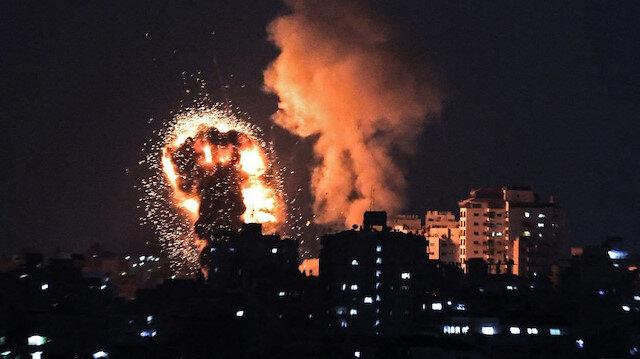 İşgalci İsrail Gazze'ye hava saldırılarına yeniden başladı