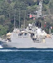 Fransız savaş gemisi Türk sularında