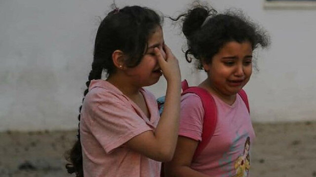 İşgalci İsrail Gazze'yi acımasızca bombalıyor: Masum çocuklar korku içinde yaşıyor