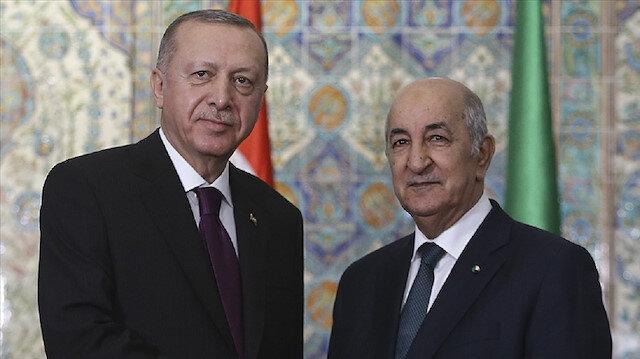 Cumhurbaşkanı Erdoğan ile Cezayir Cumhurbaşkanı Tebbun İsrail'in saldırılarını görüştü