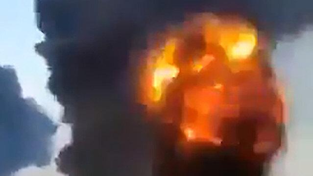 Siyonist İsrail'in Gazze'yi bombardımana tuttuğu en net görüntü