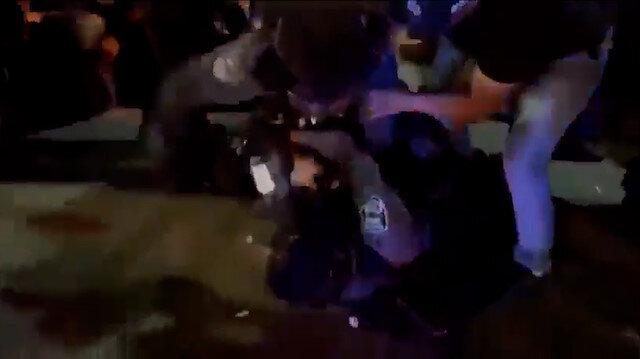 İşgalci İsrail polisleri Hayfa'da birbirine girdi: Arap asıllı ve Yahudi askerler yerde birbirlerini yumrukladı