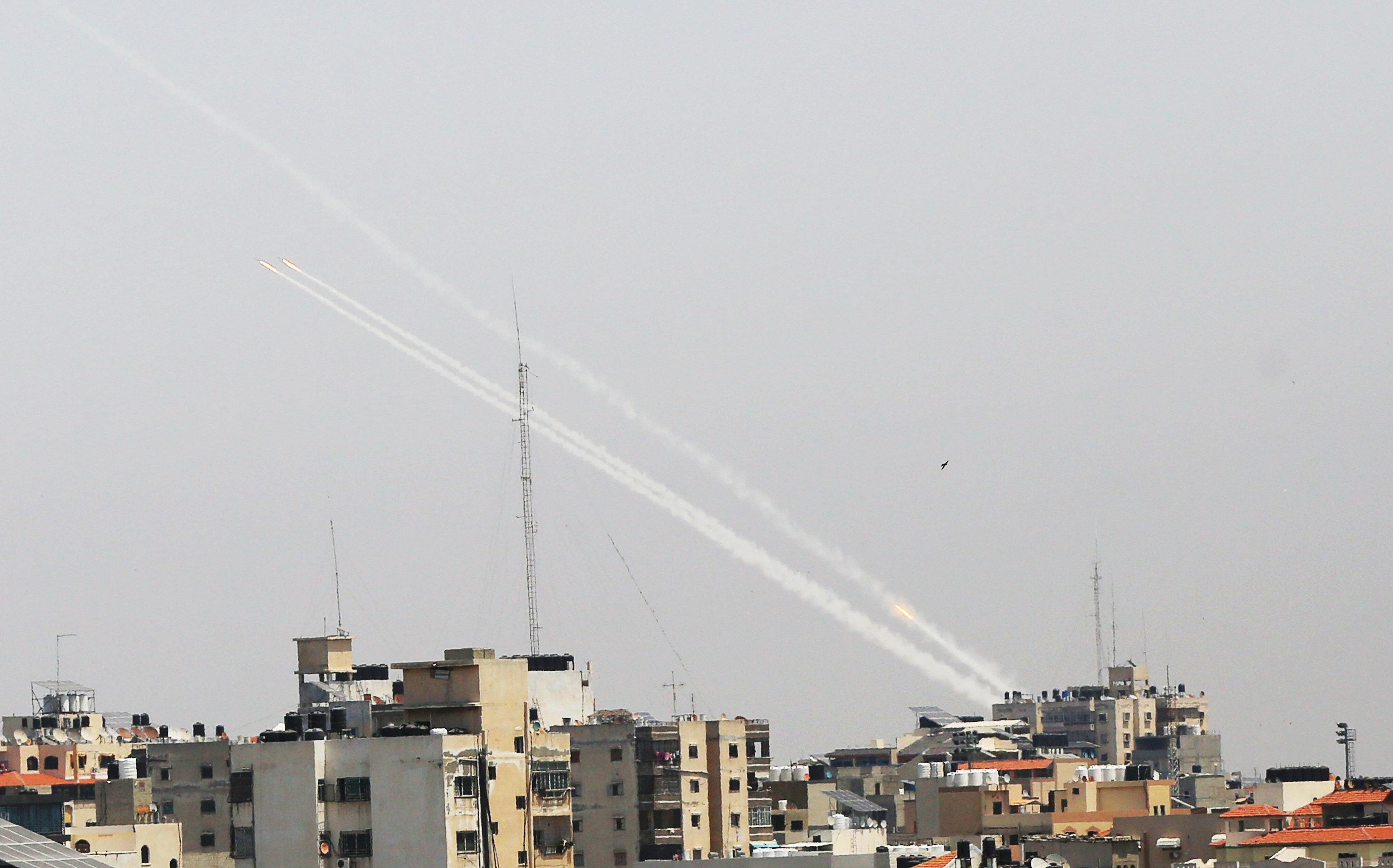 Kassam 5 dakika içerisinde Tel Aviv'e 130 roket attı.