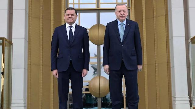Cumhurbaşkanı Erdoğan Libya Başbakanı ile görüştü