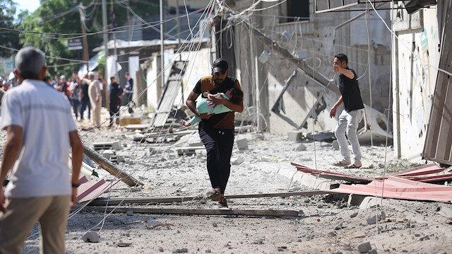 BM: İsrail'in Gazze'deki hava saldırıları sonucu sivil mülkler büyük hasar gördü 200'den fazla konut yıkıldı
