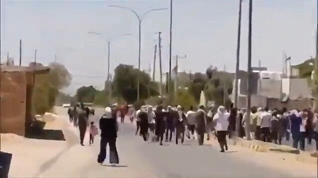Ürdünlüler Filistin sınırına akın ediyor