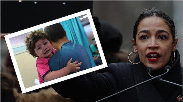 ABD'li Demokrat Vekil Ocasio-Cortez Kongrede Filistin'i Anadolu Ajansı fotoğrafıyla anlattı