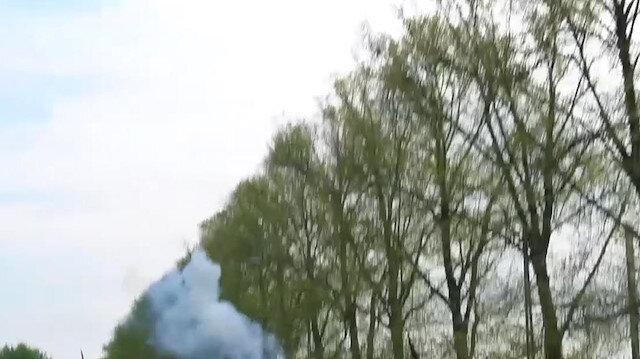 Danimarka'da polis Filistin'e destek veren göstericilere göz yaşartıcı bombayla müdahale etti