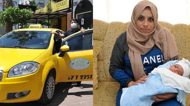 Takside mucize doğum: Bir anda sancıları tuttu