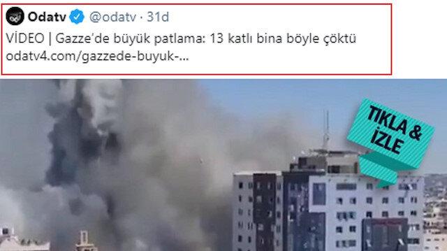 """Terör devleti İsrail bombalıyor Odatv """"çöktü"""" diyor"""