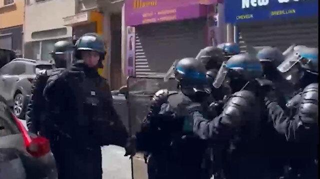Medya çalışanlarına Gazze'de bomba Fransa'da coplu darp!