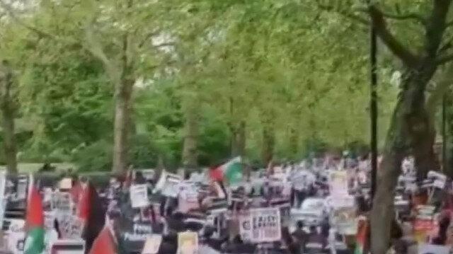 Avustralya'da binlerce kişi Filistin'e destek gösterisi düzenledi