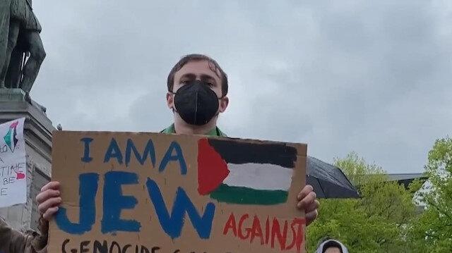 Hollanda'da İsrail'in Filistin'e yönelik saldırıları protesto edildi