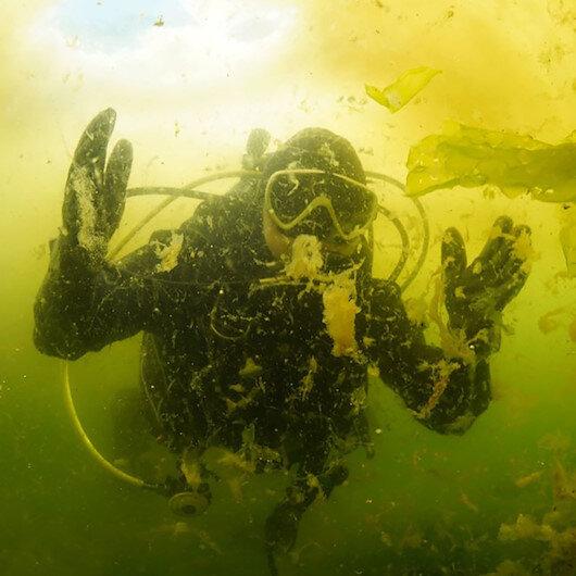 Marmara Denizindeki salya su altında görüntülendi