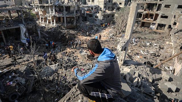 İşgalci İsrail saldırılarında şehit olanların sayısı 181'e yükseldi