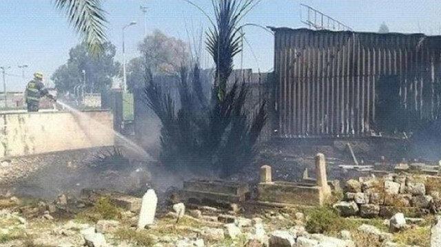 İsrail'in Hayfa kentindeki tarihi Müslüman mezarlığında yangın çıktı
