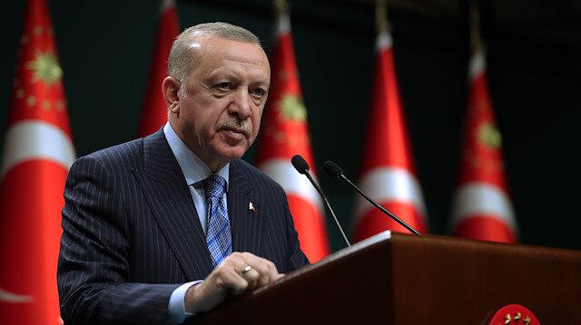 Cumhurbaşkanı Erdoğan'dan Biden'a İsrail tepkisi: Kanlı ellerinizle tarih yazıyorsunuz