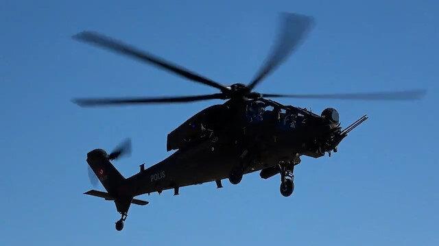 Emniyet Genel Müdürlüğü'ne teslim edilen yeni Atak helikopterleri göreve hazır