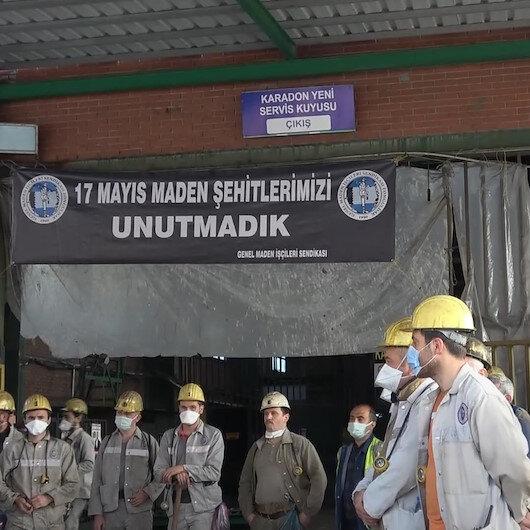 Zonguldakta 11 yıl önce yaşanan grizu patlamasında hayatını kaybeden madenciler dualarla anıldı