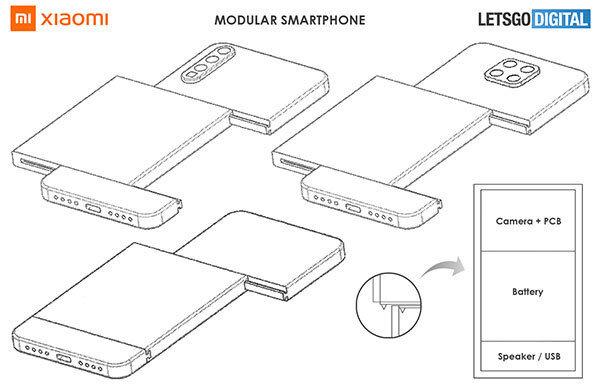 Xiaomi modüler telefon.