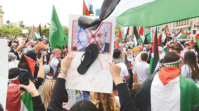 On binlerce kişi Filistin için tek ses: İsrail savaş suçu işliyor