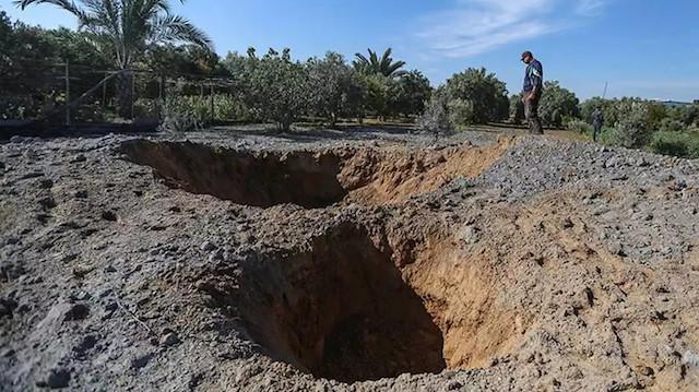 İsrail Gazze Şeridi'nde konutları, güvenlik merkezini ve tarım arazisini vurdu