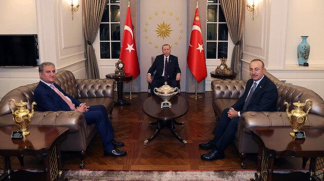 Cumhurbaşkanı Erdoğan Pakistan Dışişleri Bakanı'nı kabul etti