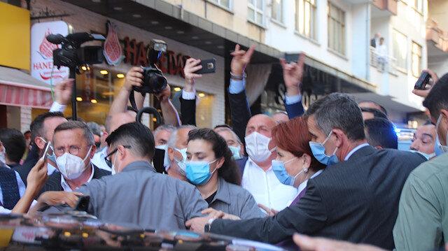 Meral Akşener Çayeli'nde de protesto edildi