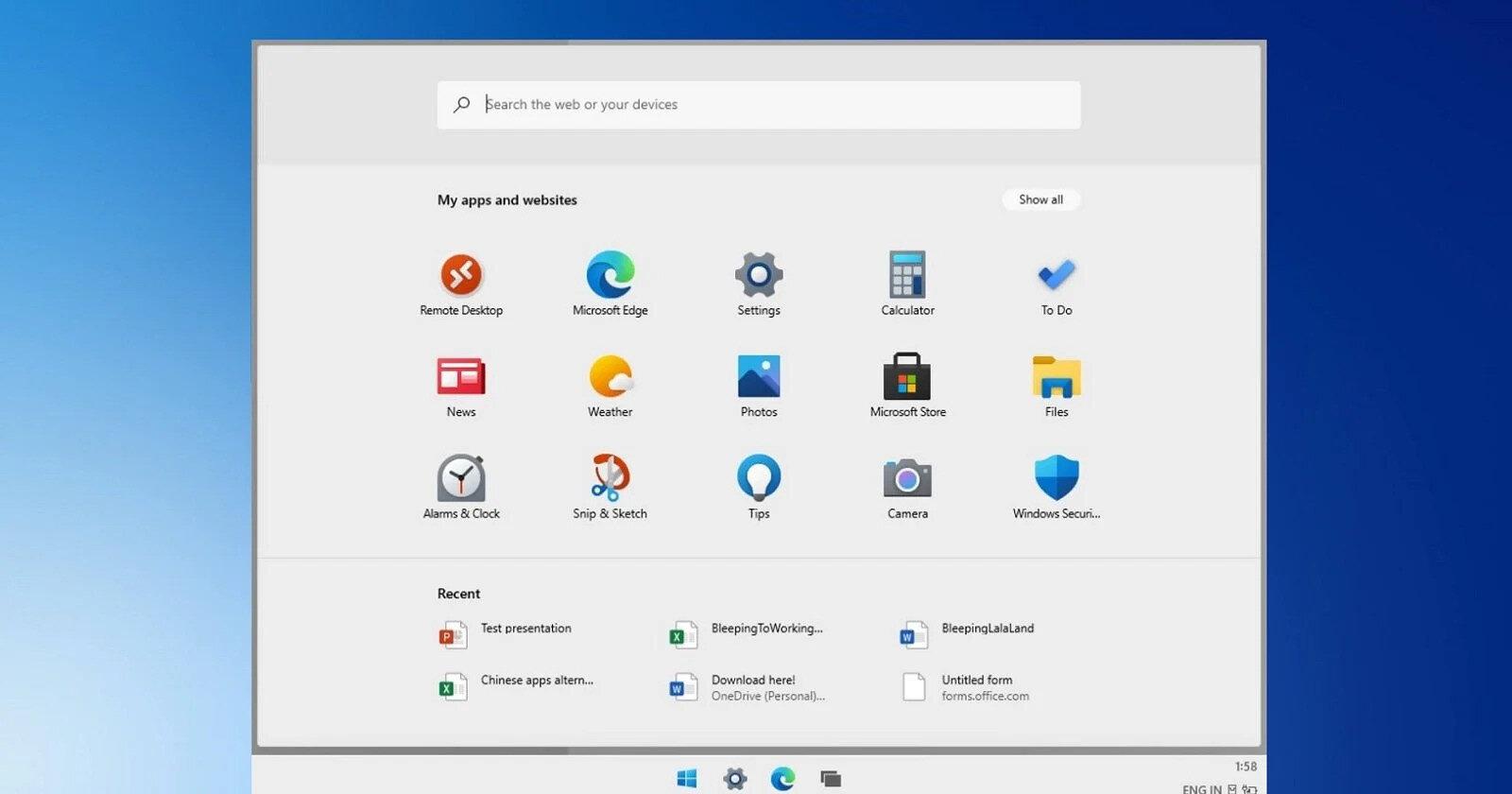 Windows 10X'in en önemli avantajlarından biri ise dokunmatik ekranlı cihazlarda kullanım için tasarlanıyor olmasıydı.