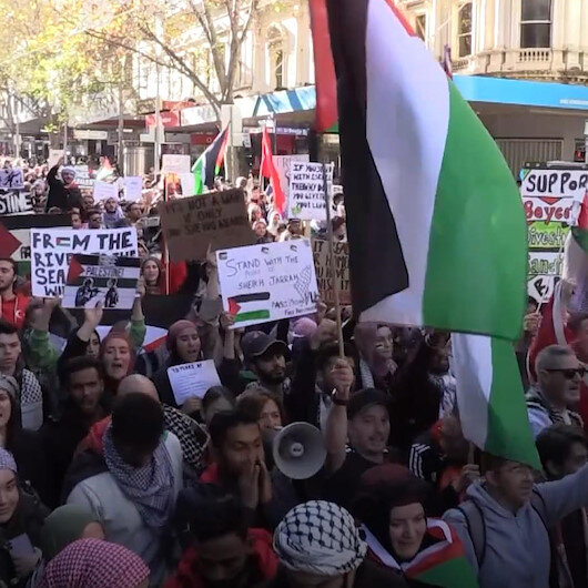 Avustralyanın birçok şehrinde işgalci İsrailin saldırıları kınandı