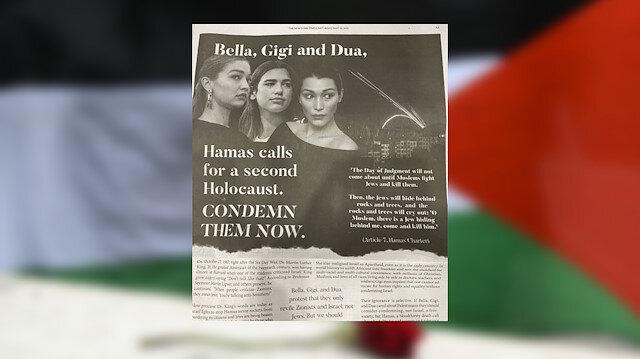 Filistin'e destek veren ünlüler hedefte: New York Times'a tam sayfa ilan verdiler