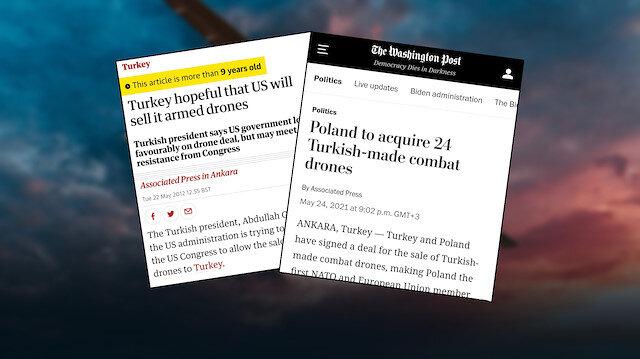 Dünya medyasının manşetleriyle Türkiye'nin SİHA başarısı