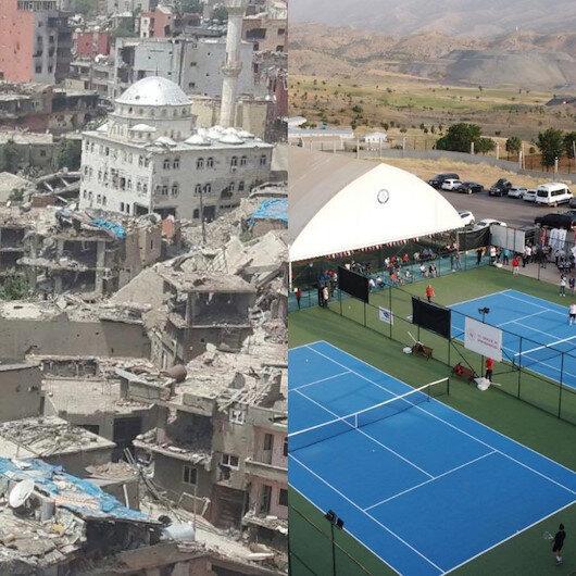Şırnak'ın dünü ve bugünü: Artık tenis raketlerinin sesi yankılanıyor