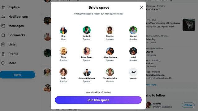 Twitter Spaces sohbetlerine masaüstünden katılma özelliği geldi