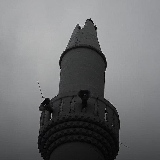 Orduda camiye düşen yıldırım minarenin ucunu kopardı