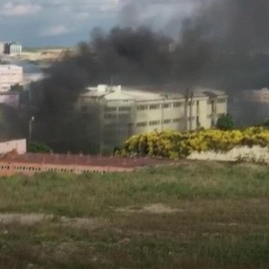 Arnavutköyde bir iş yerinde yangın çıktı
